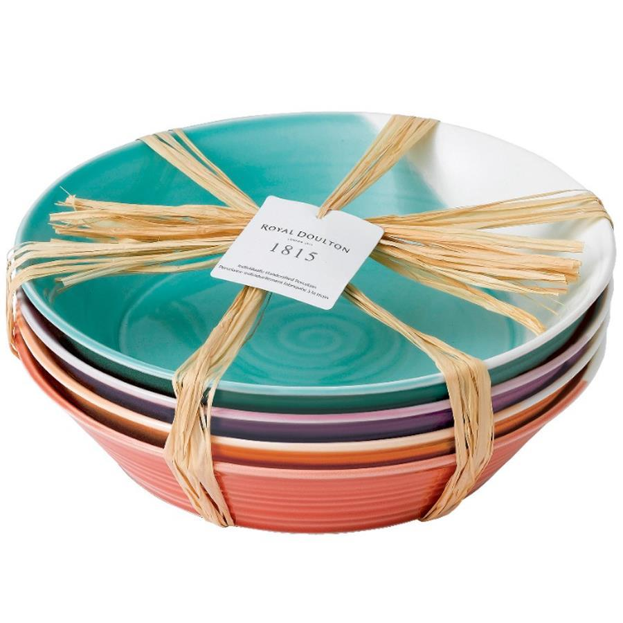 WEDGWOOD SET 4 PIATTI PASTA BRIGHTS