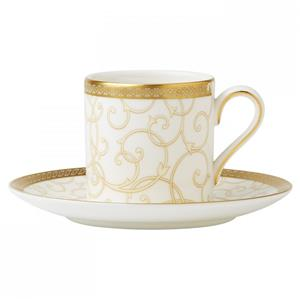 WEDGWOOD PIATTINO CAFFE' BOND CELESTIAL GOLD