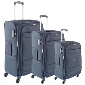 Delsey Set 3 Trolley Cabina 4 Ruote Indiscrete