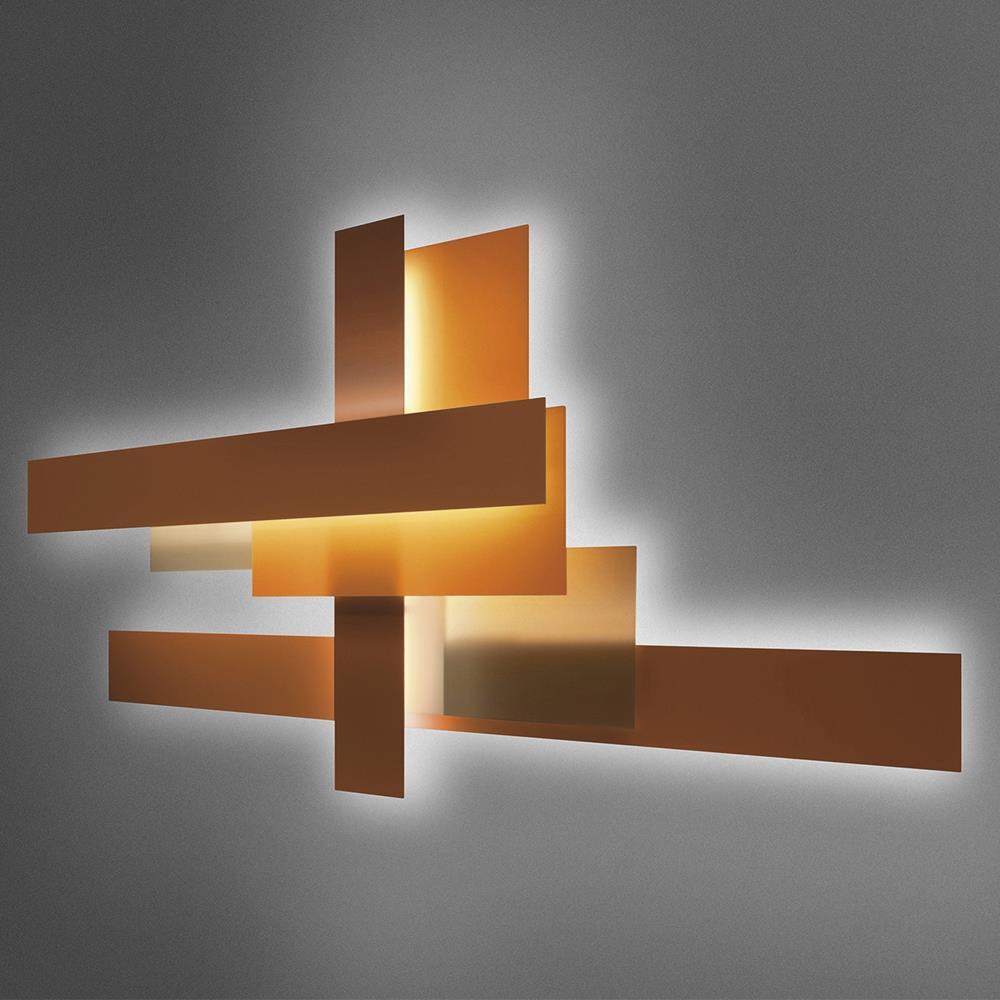 Foscarini lampada da parete fields lampade da parete - Mezzo tavolo da parete ...
