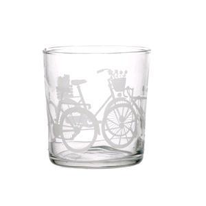 Porcellana Bianca Bicchiere Biciclette Babila