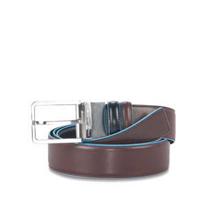 Piquadro Cintura Reversibile Blue Square
