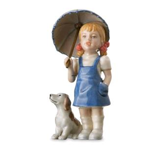 Royal Copenhagen Bambina Con Cane Mini Collection