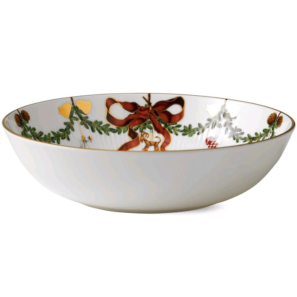 ROYAL COPENHAGEN INSALATIERA STAR FLUTED CHRISTMAS