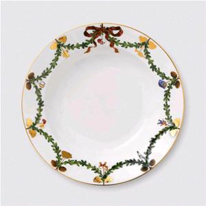 ROYAL COPENHAGEN PIATTO DOLCE STAR FLUTED CHRISTMAS