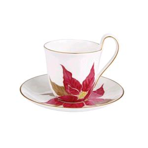 Royal Copenhagen Tazza The Con Piattino Poinsettia