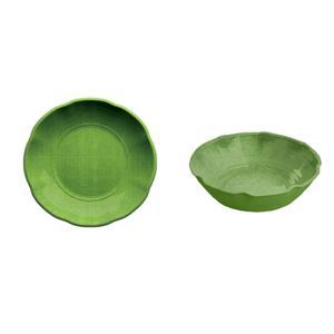 Serafinozani Set 2 Piatti Fondi York Verde