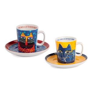 Egan Set 2 Tazze Caffe' Laurel Burch