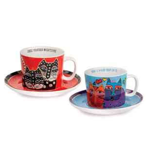 Egan Set 2 Tazze Cappuccino Laurel Burch