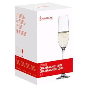 Kunzi Confezione 4 Flute Champagne Salute