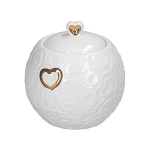 Porcellana Bianca Zuccheriera Valentino Oro