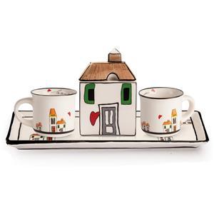 Egan Set 2 Mini Mug Zuccheriera Vassoio
