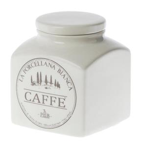 Porcellana Bianca Barattolo Caffe