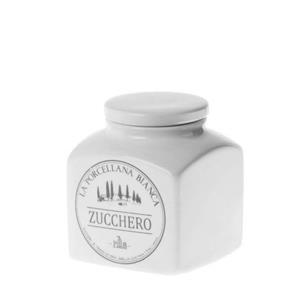 Porcellana Bianca Barattolo Zucchero