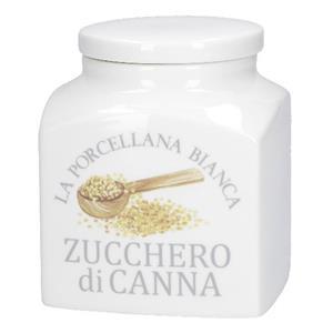Porcellana Bianca Barattolo Zucchero Di Canna Deco