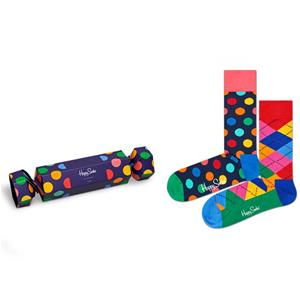 Happy Socks Calze Holiday Cracker Big Dot Box 2 Pezzi