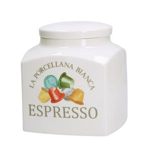 Porcellana Bianca Barattolo Espresso Deco