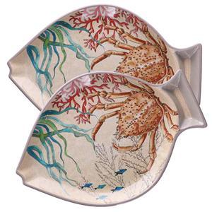 Rose&tulipani Set 2 Piatti Pesce Sea Life