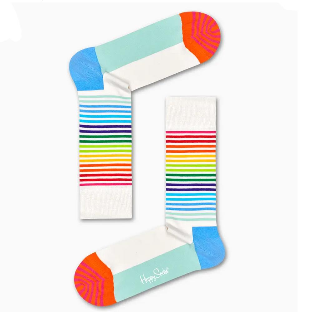HAPPY SOCKS CALZE HALF STRIPE