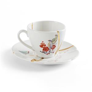 Seletti Tazza Caffe Con Piattino Decoro N2 Kintsugi