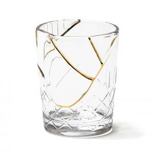 Seletti Bicchiere In Vetro Decoro N1 Kintsugi