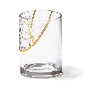 Seletti Bicchiere In Vetro Decoro N2 Kintsugi