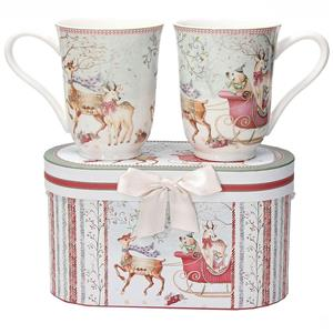 FONTEBASSO SET 2 MUG CILINDRICI + BOX RIBBON