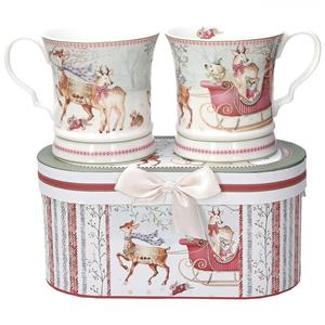 FONTEBASSO SET 2 MUG SVASATI + BOX RIBBON