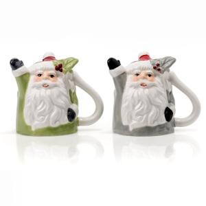 Evviva Set 2 Tazze Caffe' Upside Down Babbo Natale Con Vischio